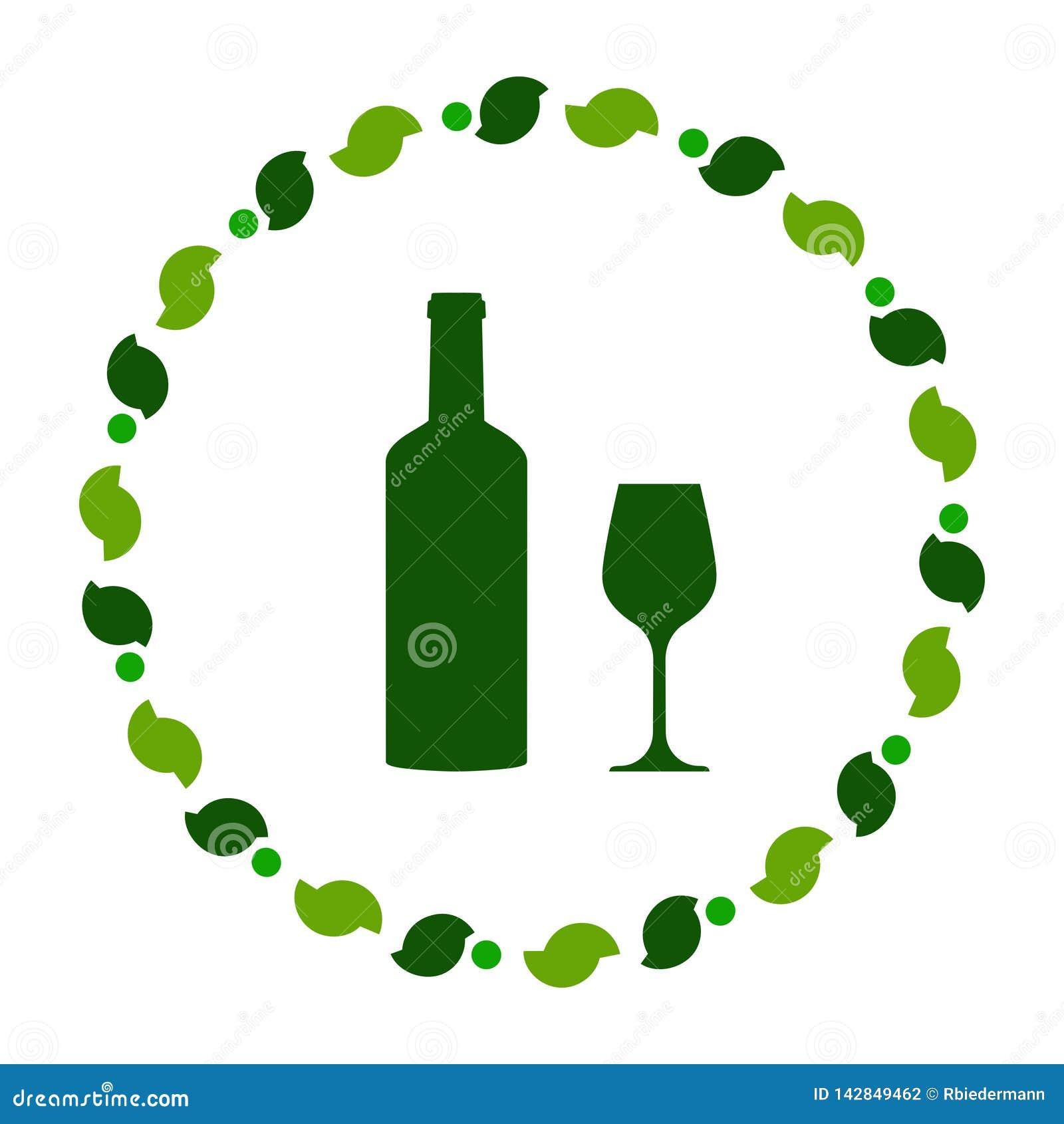 Wino wianek i szkło