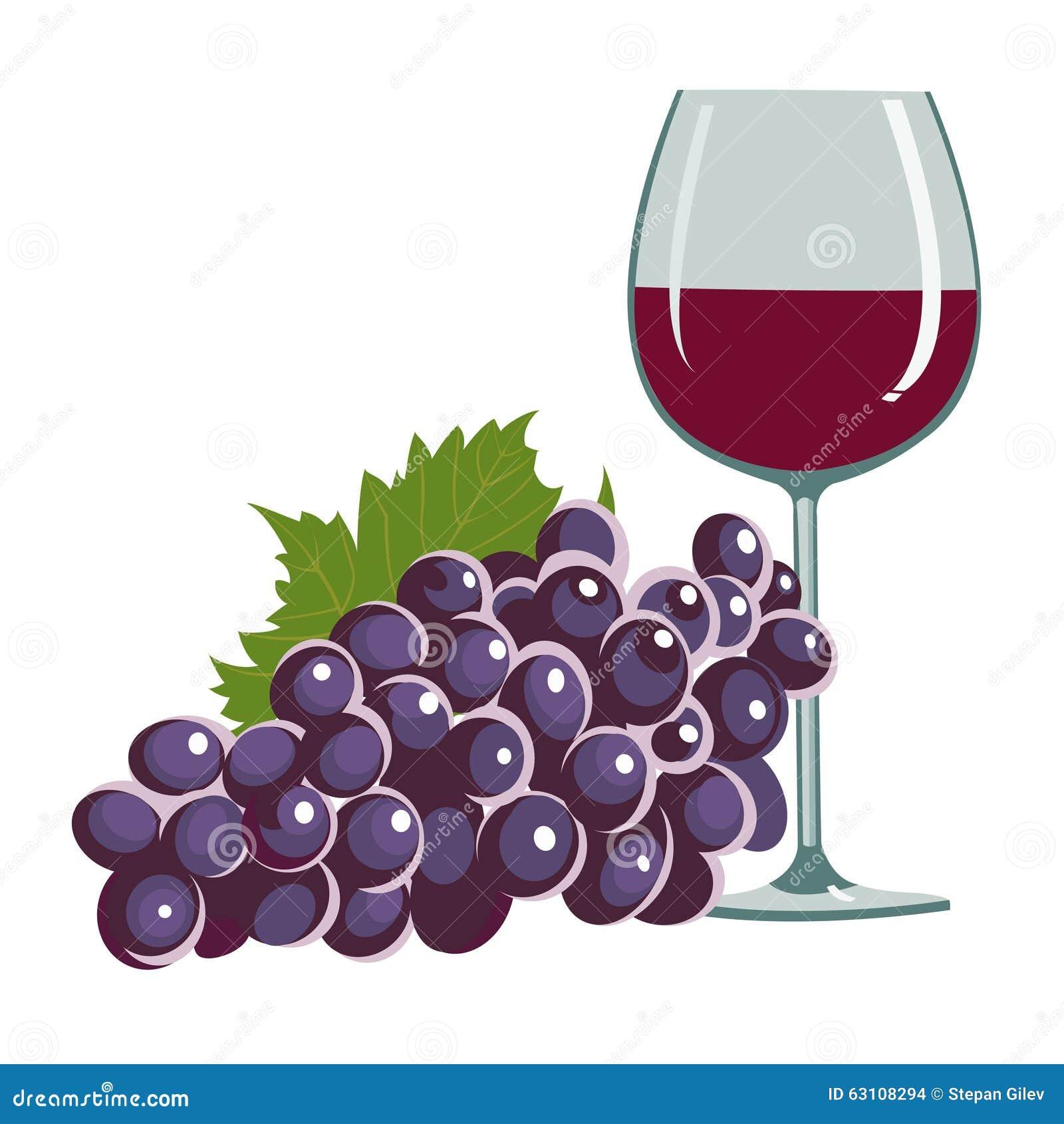 Winogrona szklany wino