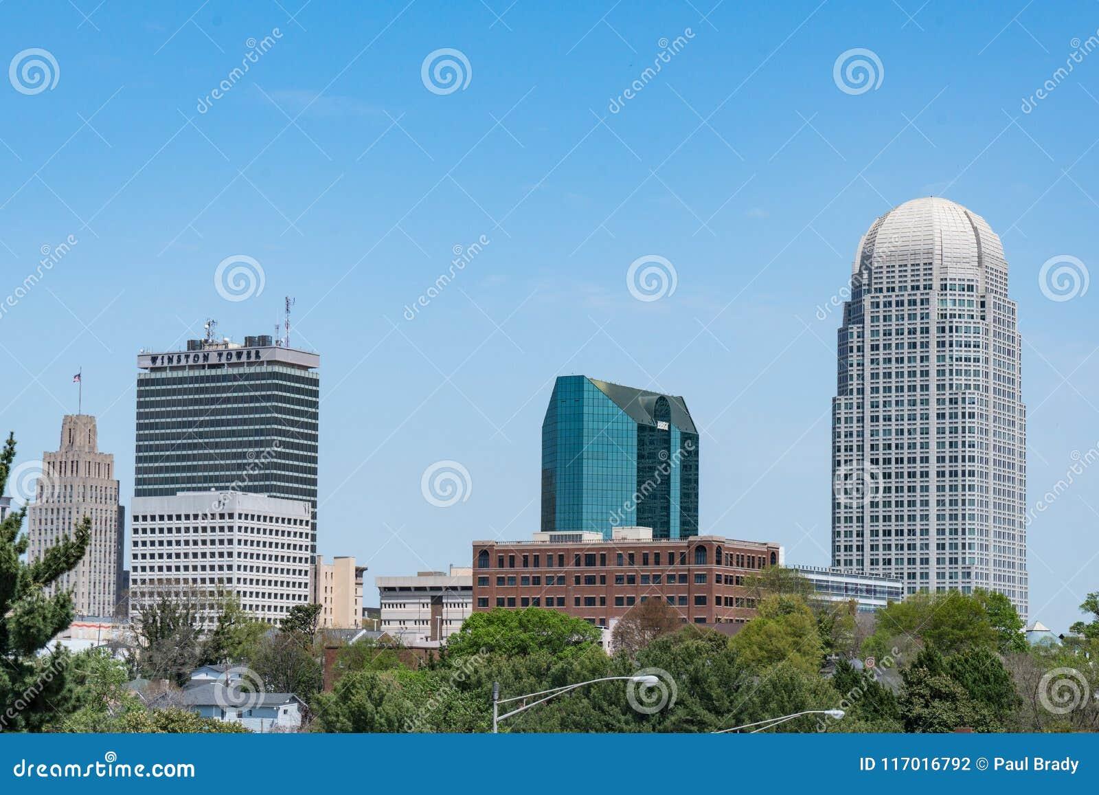 Winston-Salem North Carolina Skyline