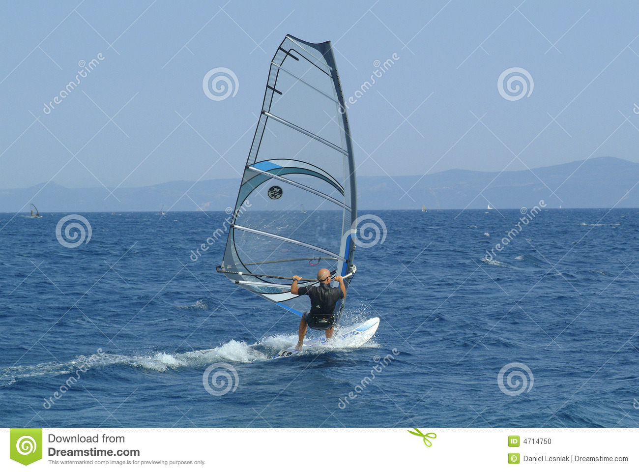 Download Winsurfer in action stock photo. Image of brac, summer - 4714750