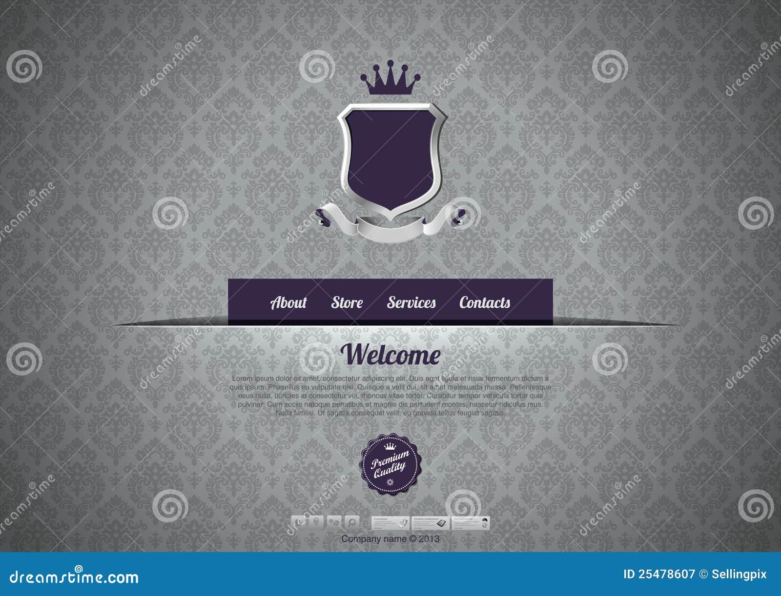 Wintage design web template