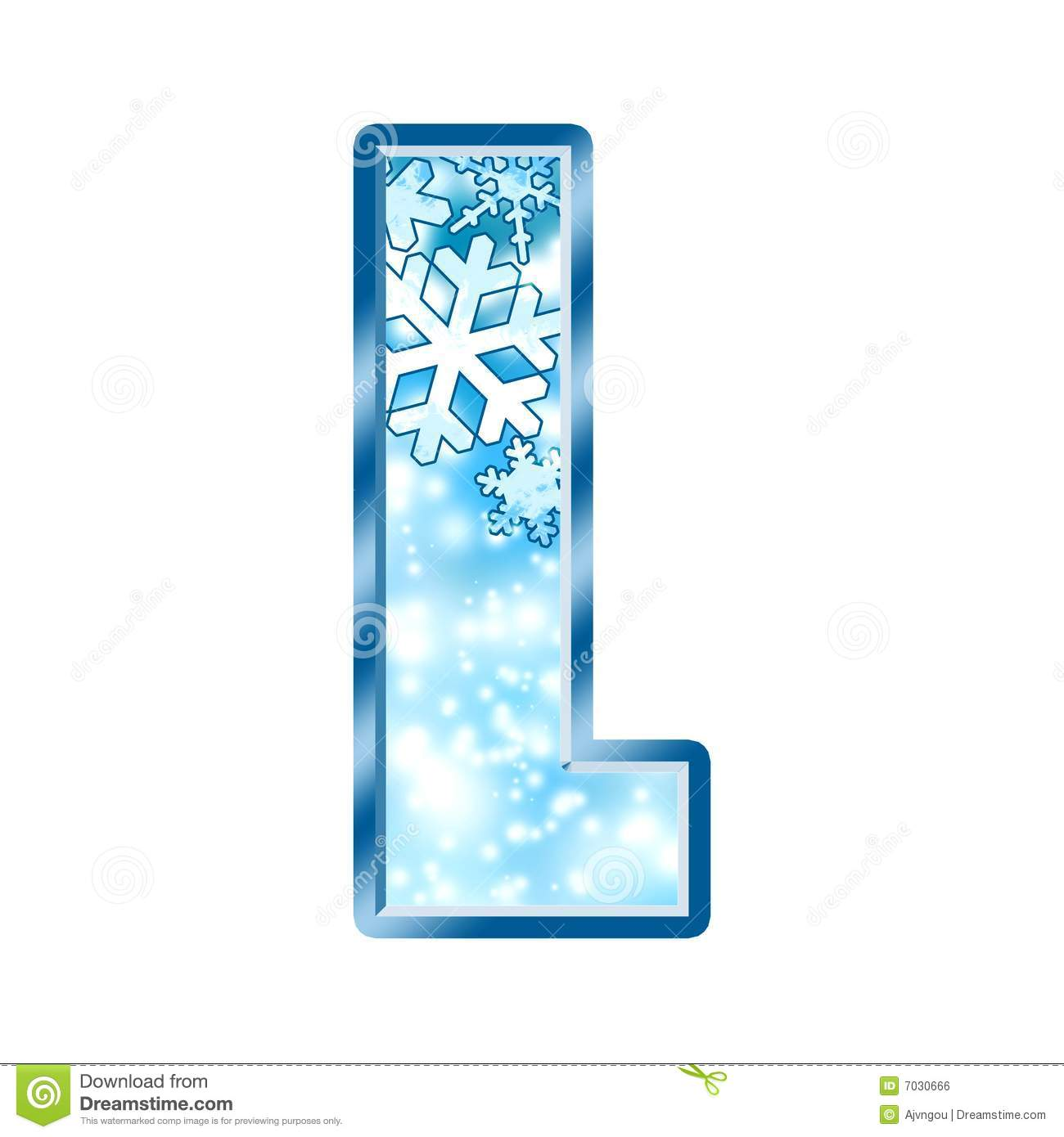 Winter Alphabet Letter L Royalty Free Stock Image - Image: 7030666
