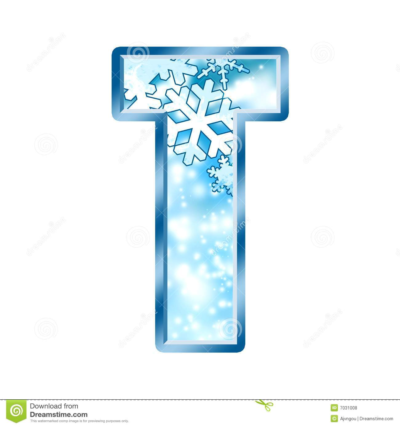 Winter Alphabet Letter T Royalty Free Stock Photos Image