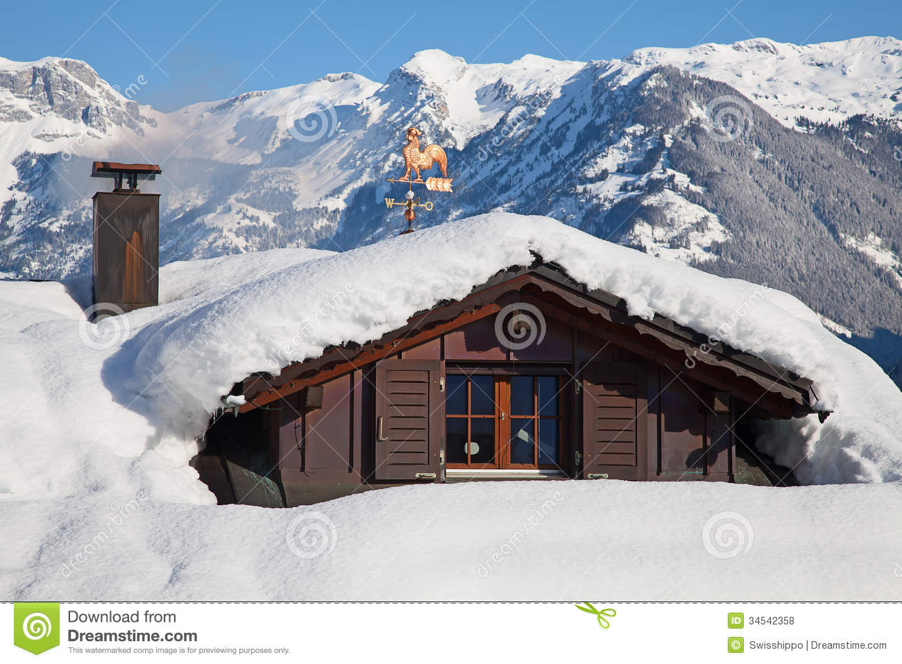 Winter In Alps Royalty Free Stock Photos Image 34542358