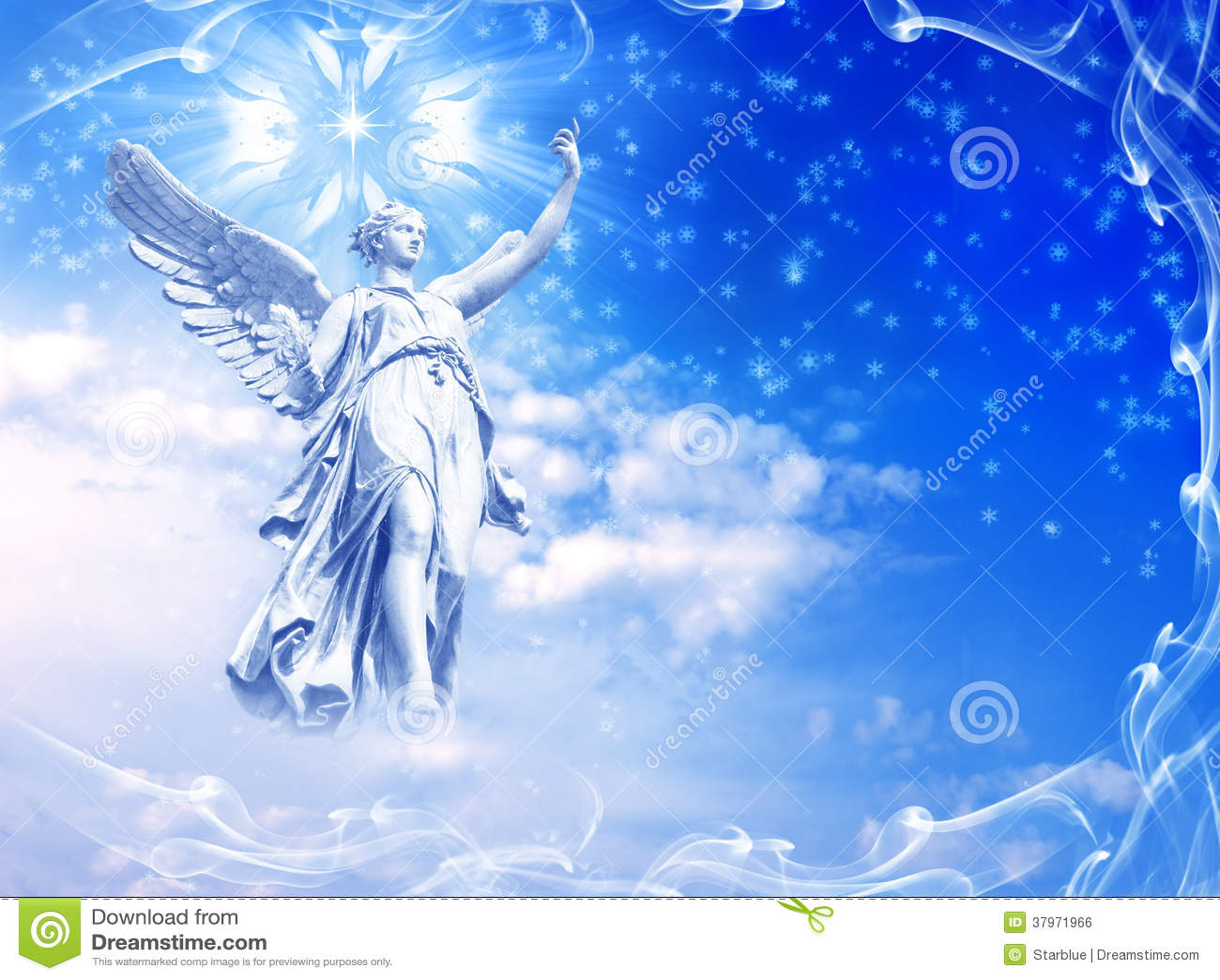Winter angel stock photo. Image of divinity, angelic ...