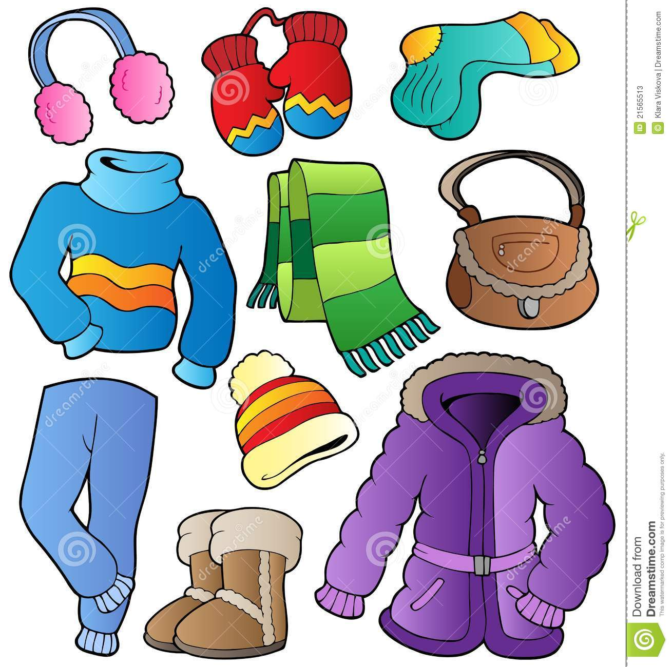 Art Unlimited Sportswear: Winter Apparel Collection 1 Stock Vector
