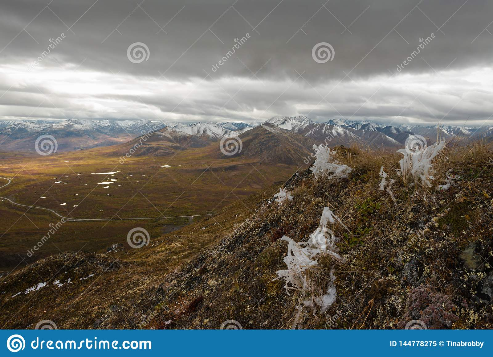Winter approaches over the Dempster highway, north Yukon, Canada
