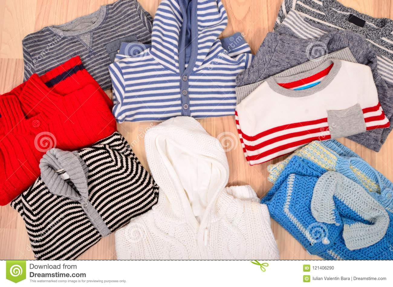 21d4dac51 Winter Baby Clothes Lying On The Floor. Stock Photo - Image of lying ...