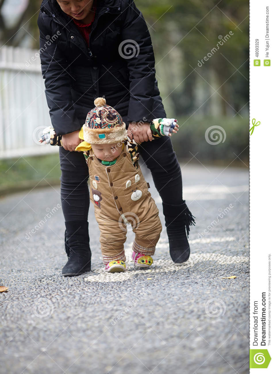 First Step To Success: First Step Baby. Winter Royalty-Free Stock Image