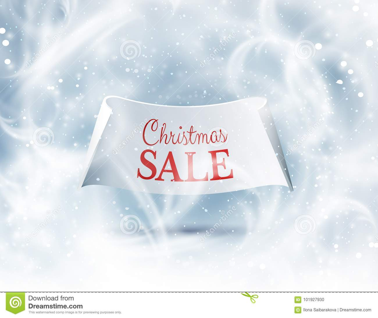Winter Background For Christmas Greeting Card. Vector Eps10. Stock ...