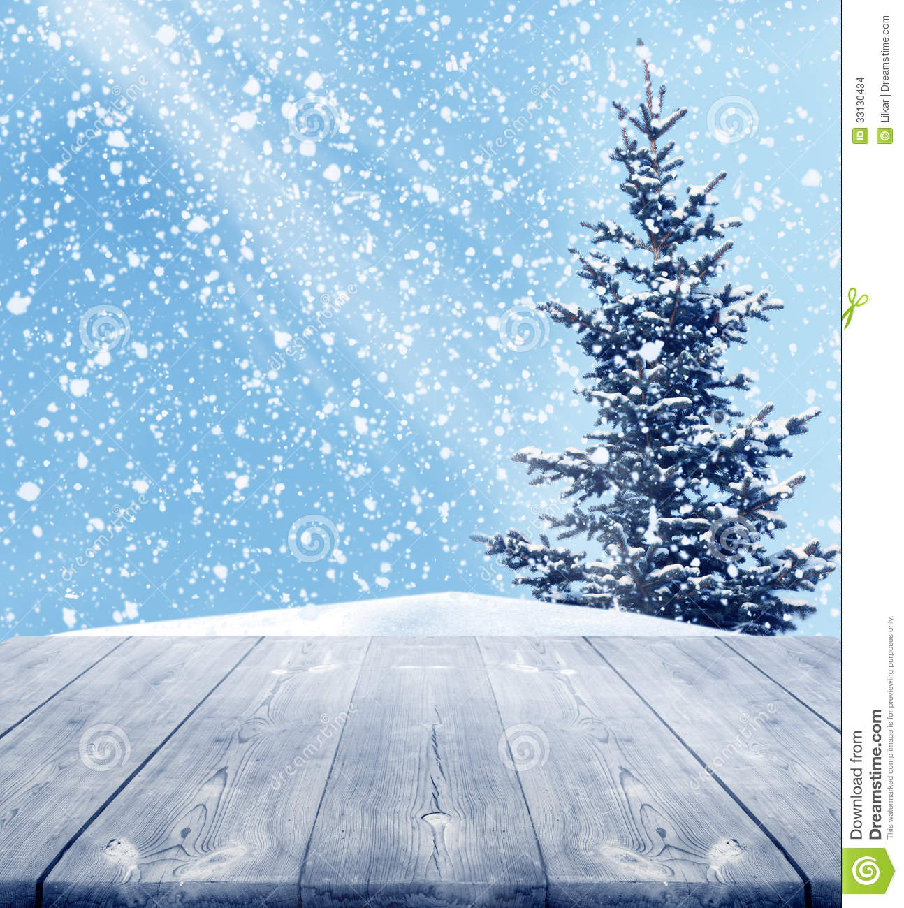 Christmas tree snow decoration - Winter Background Stock Images Image 33130434