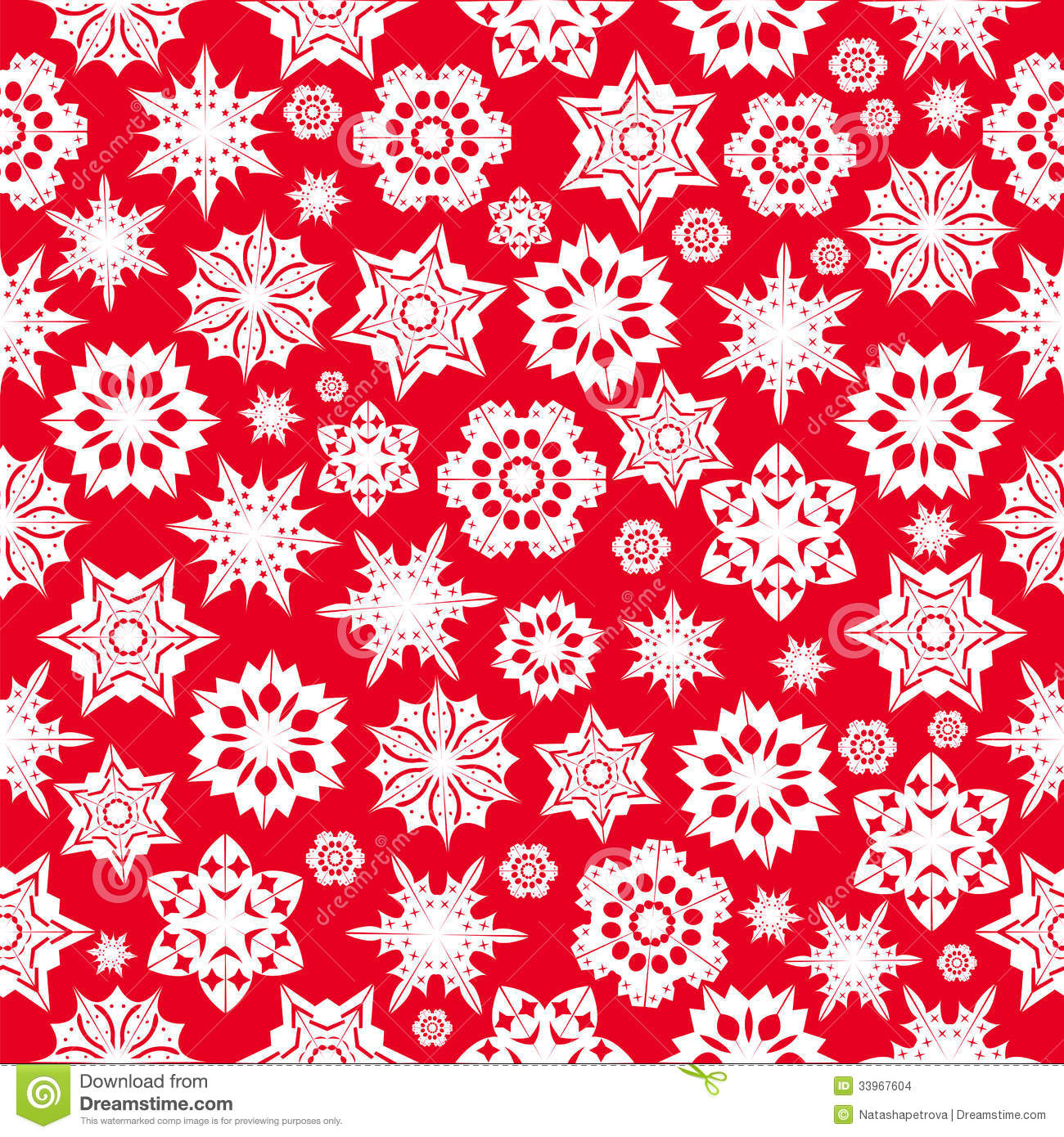 ... pattern with red snowflakes on a white background.winter background