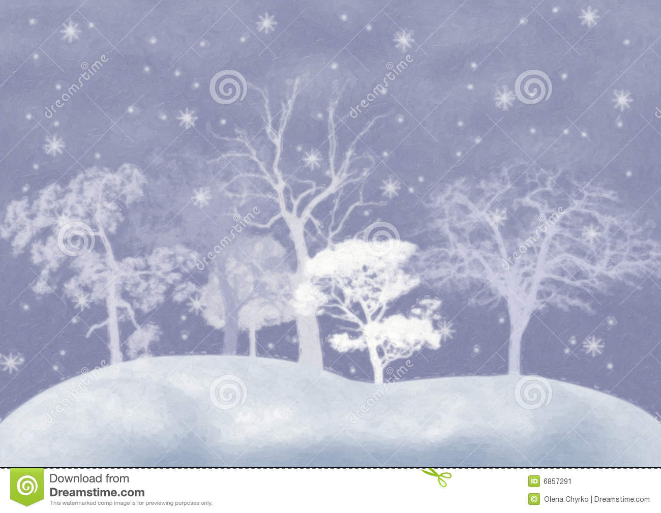 Winter Background With Snow Covered Trees Stock Image