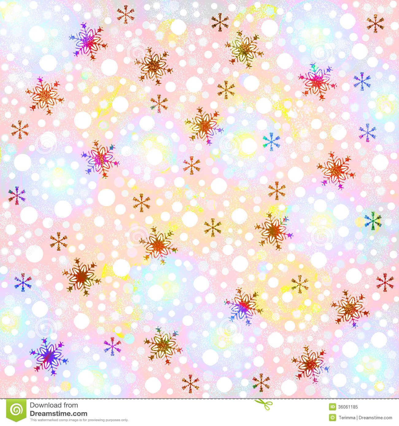 Winter Background With Snowflakes Royalty Free Stock Photo - Image ...