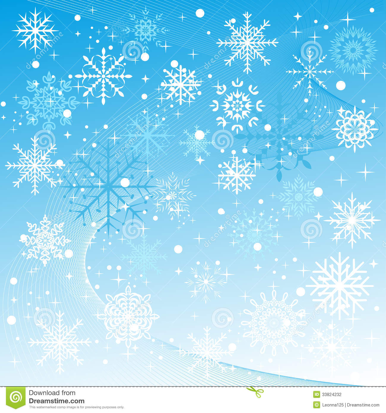 Winter Background With Snowflakes Falling Stock Photography - Image ... Falling Snowflake Vector
