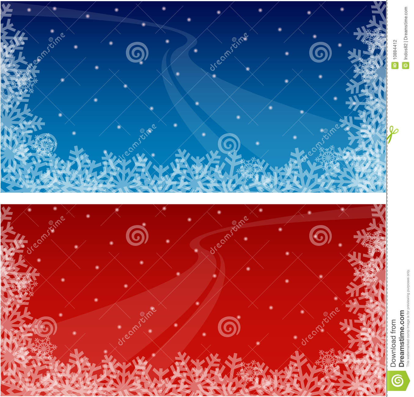 Winter Holiday Banners Blank Word Banners