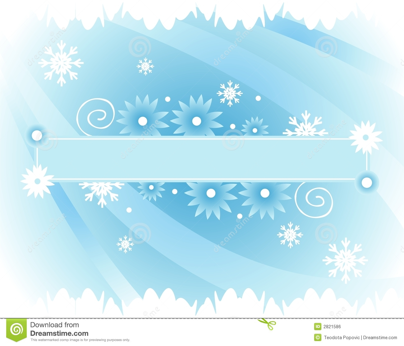 Winter banner stock vector. Image of snowflakes, frame ...