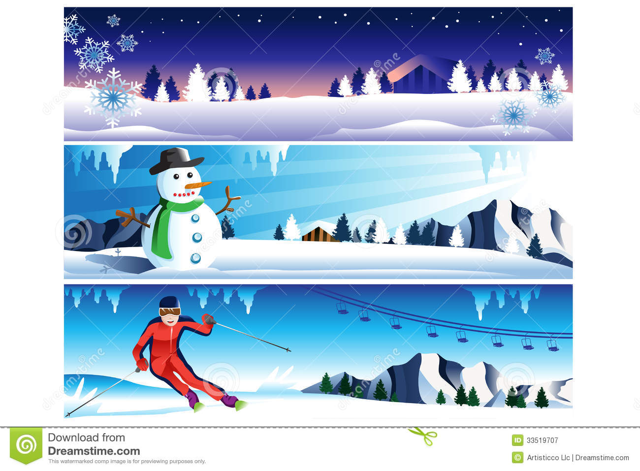 Winter Banner Royalty Free Stock Photography - Image: 33519707