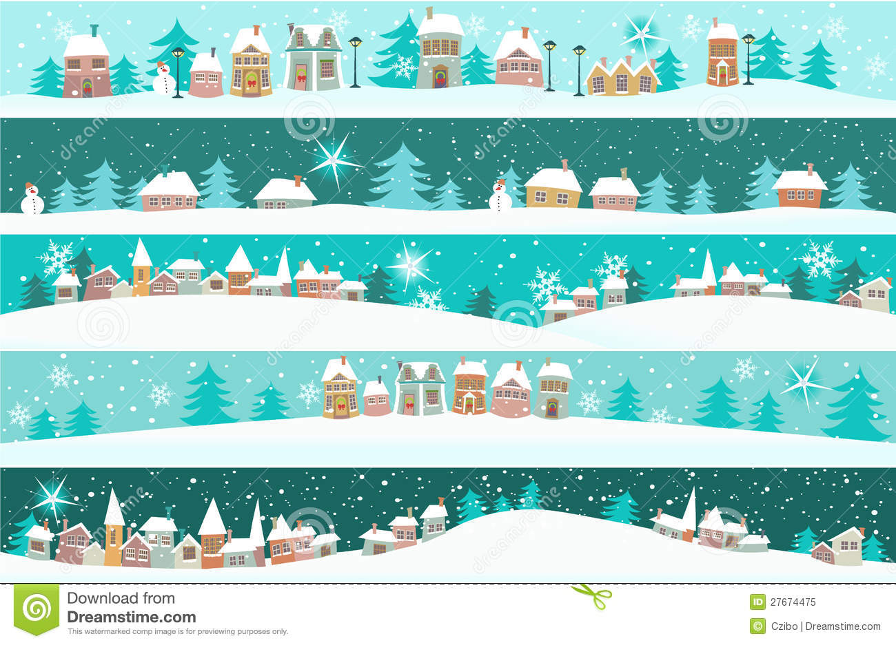 Winter Holiday Banners Kingdom Banners