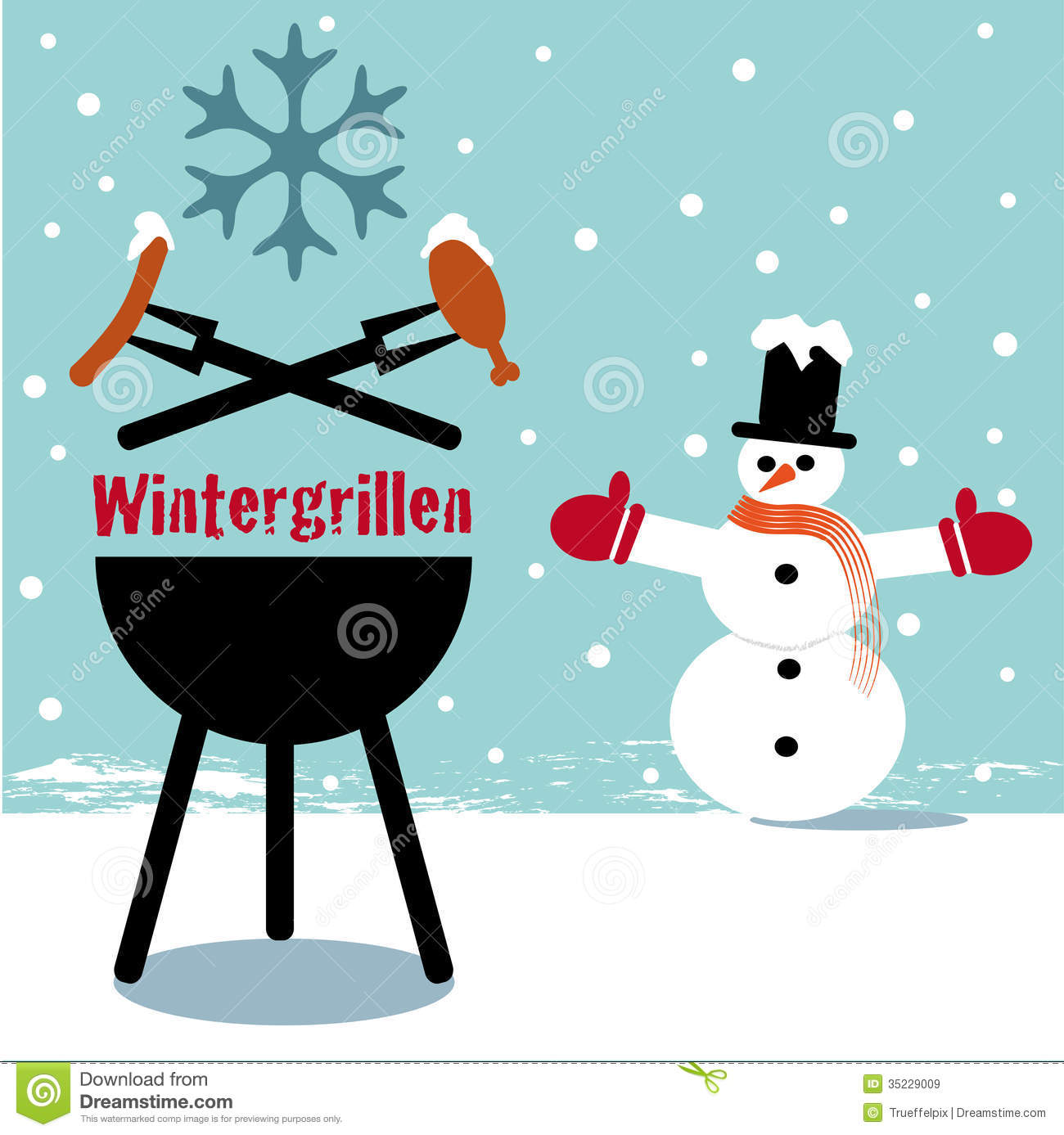 Winter Bbq Royalty Free Stock Images Image 35229009