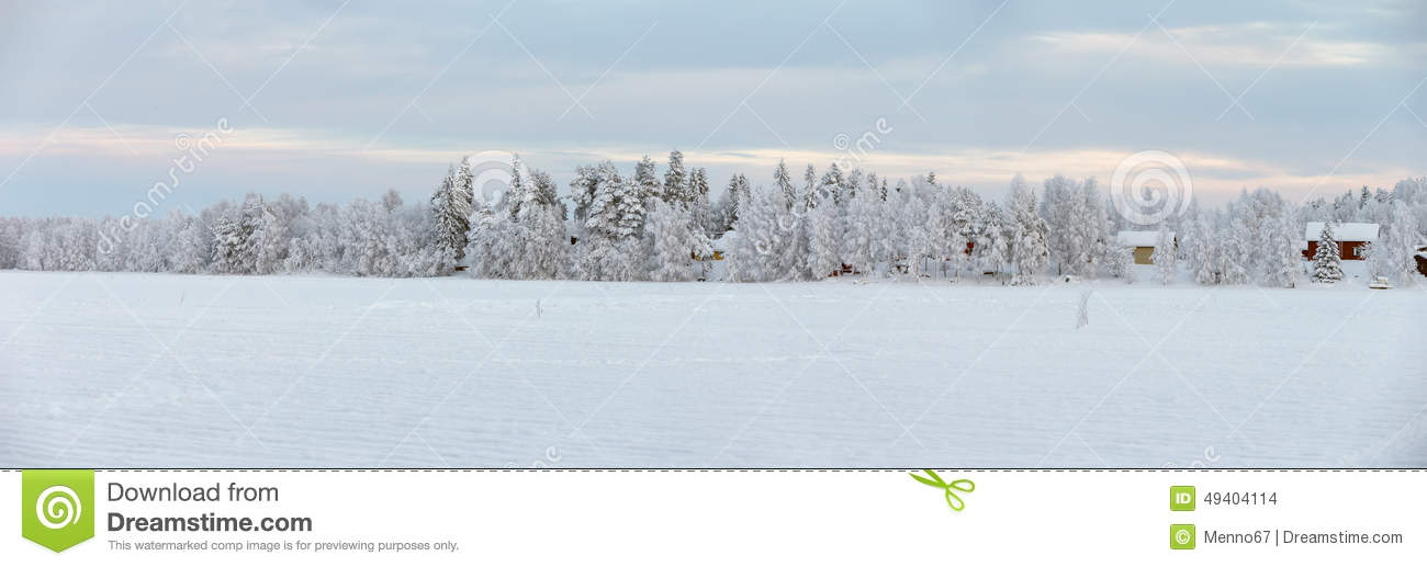 Download Winter bei Lappland stockfoto. Bild von wald, frost, sonne - 49404114