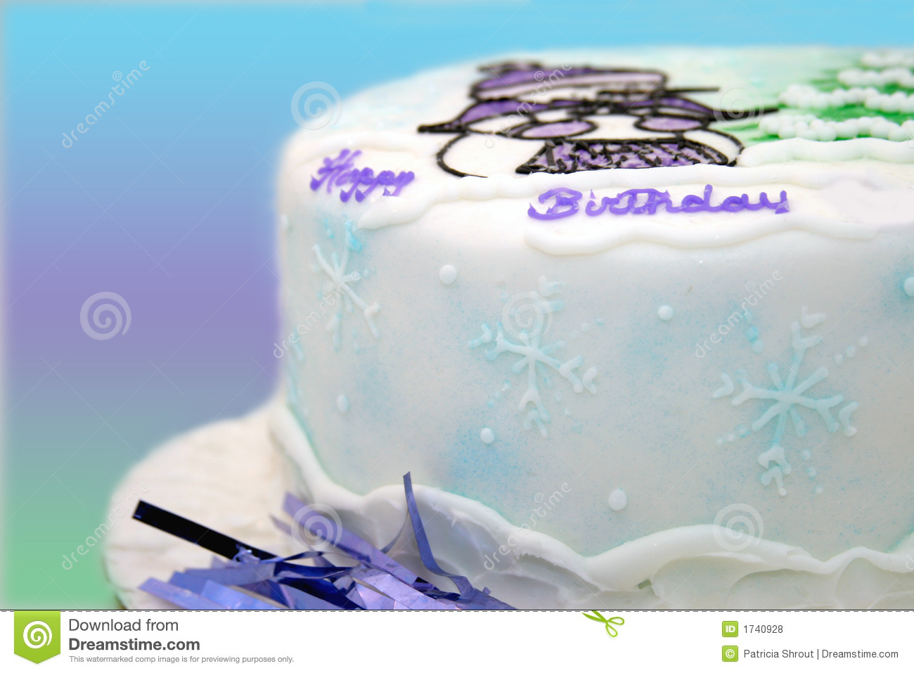 Cool Winter Birthday Cake Stock Photo Image Of Icing Flakes 1740928 Funny Birthday Cards Online Eattedamsfinfo