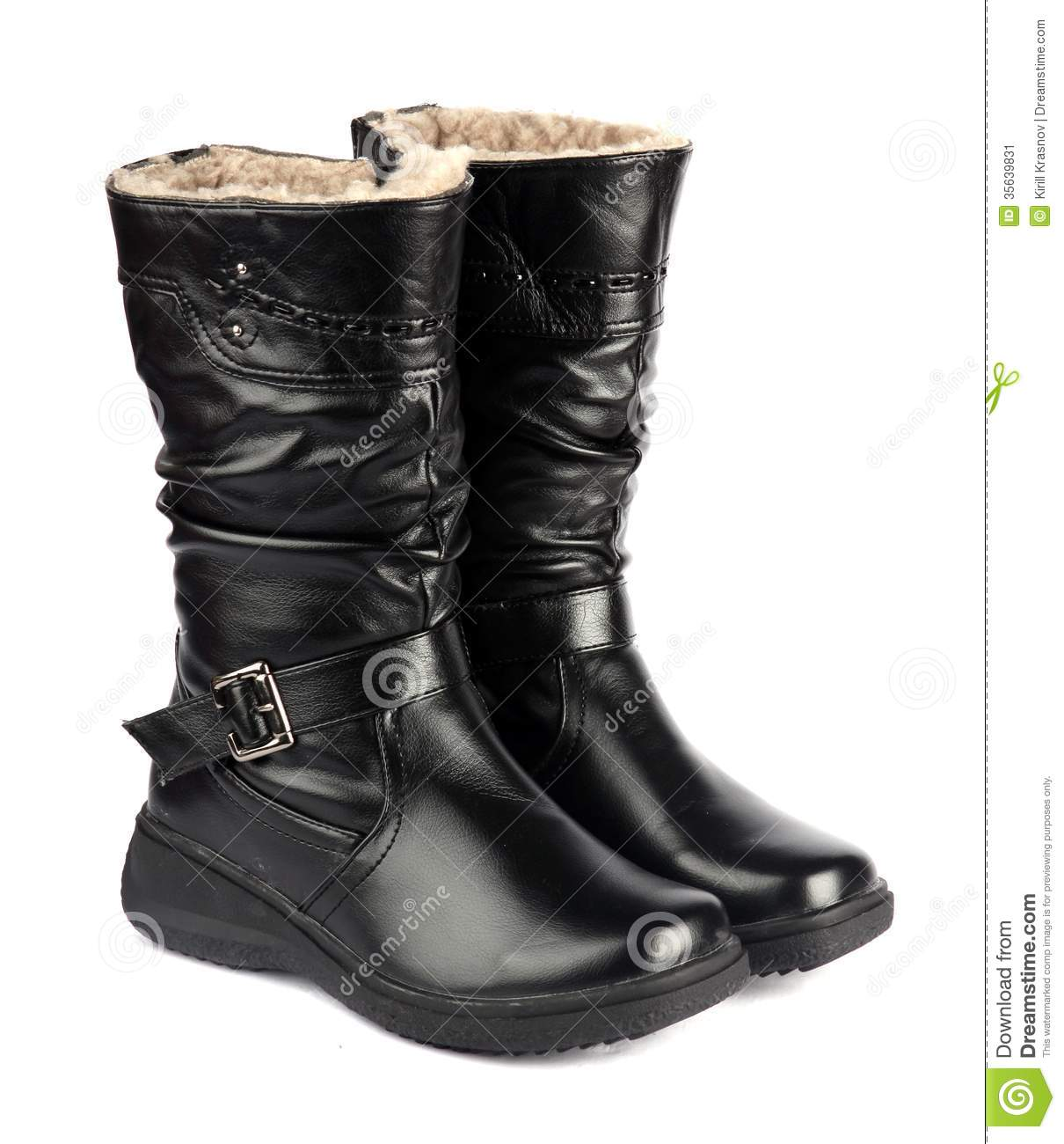 Winter boots stock image image 35639831