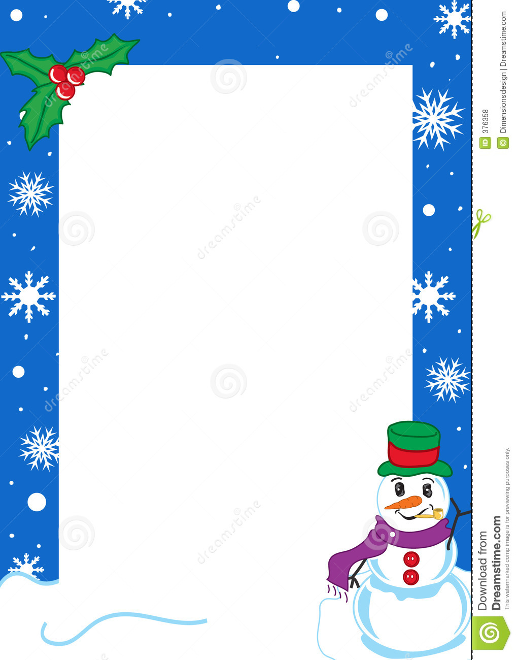 Winter Borders Free Winter border royalty free