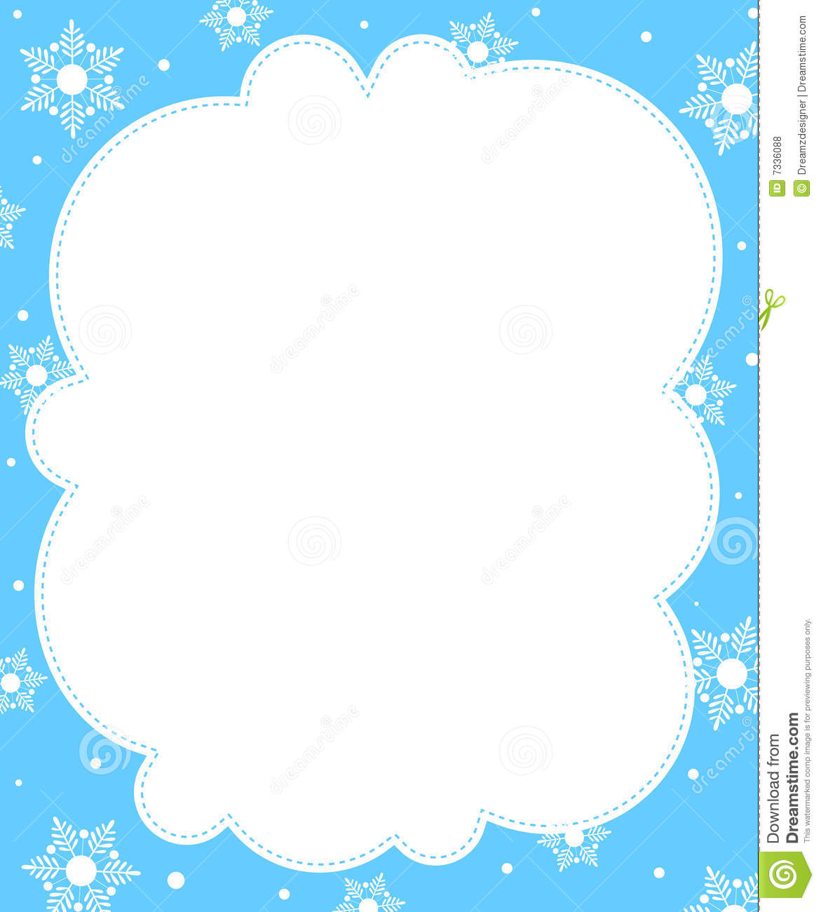 ... / winter border / frame. falling snow on beautiful blue background Falling Snowflake Vector