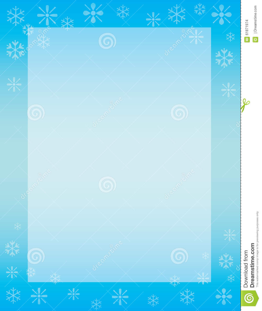 Winter Brochure Background Stock Illustration Image