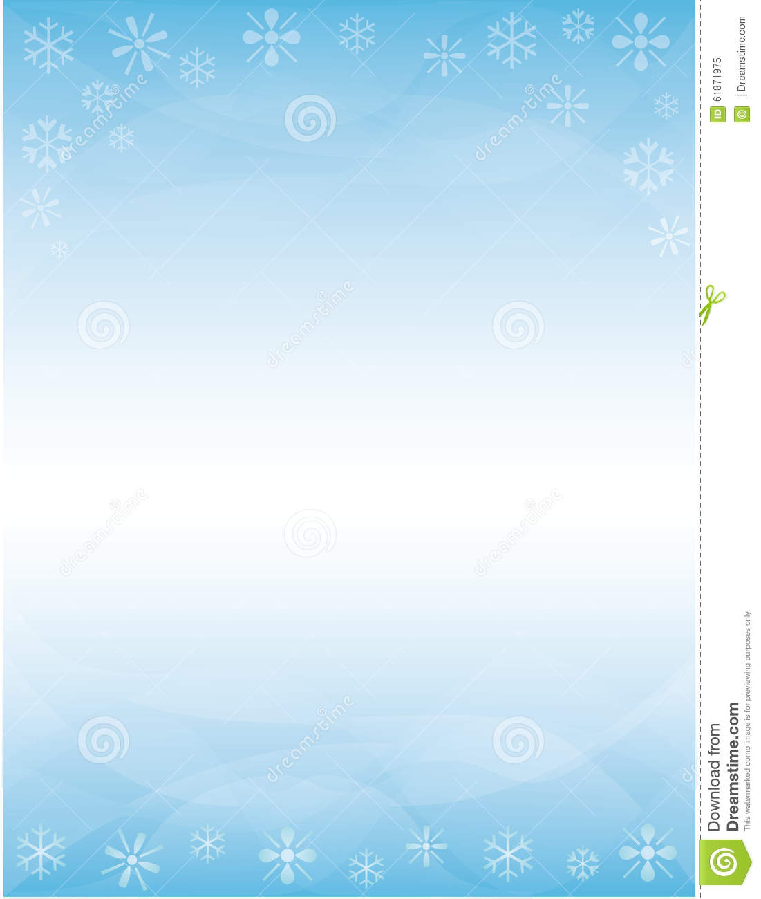 winter brochure background stock illustration image 61871975 winter brochure background