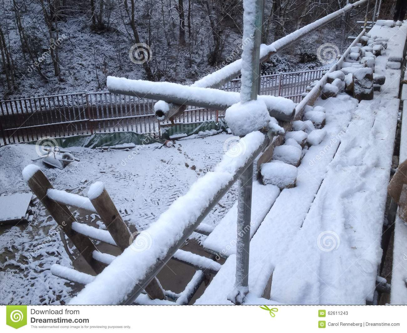 Winter On A Building Site Stock Photo Image 62611243