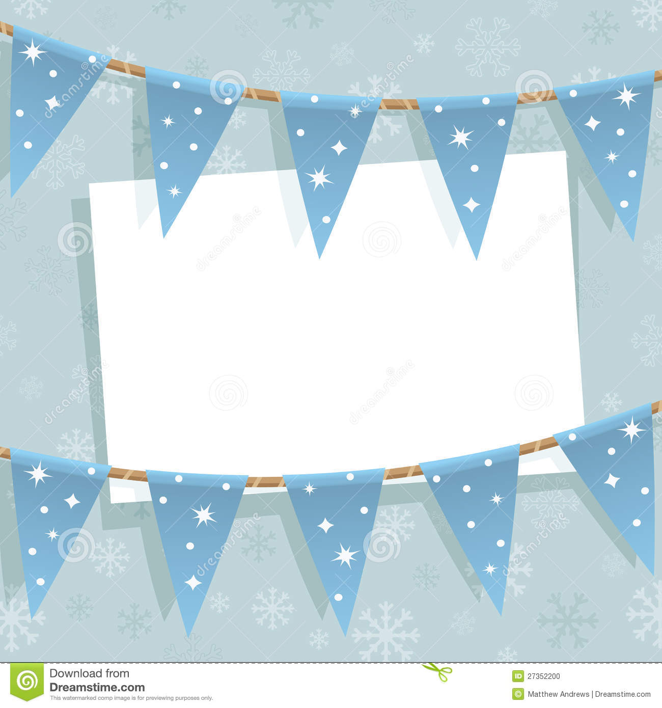 winter bunting decoration stock vector  image of ribbon