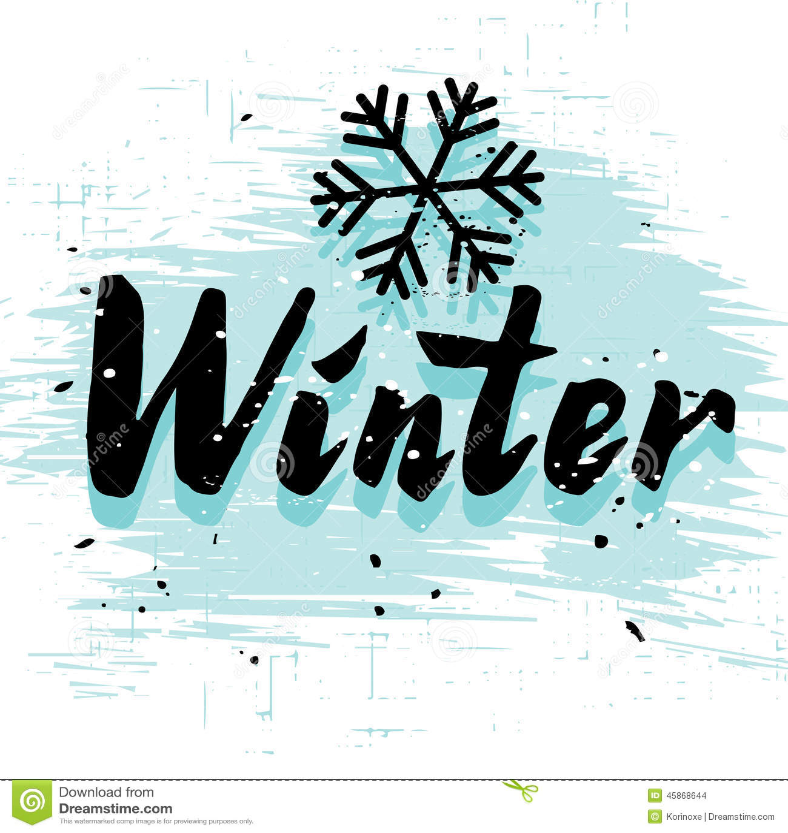 winter calligraphy word stock vector image of handwritten white snowflake border clipart black and white snowflake clipart