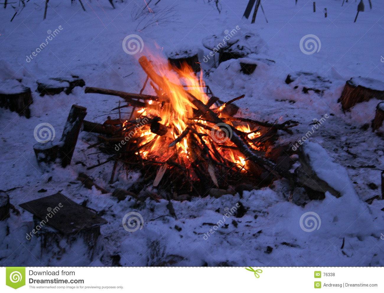 winter camp fire royalty free stock photos image 76338. Black Bedroom Furniture Sets. Home Design Ideas