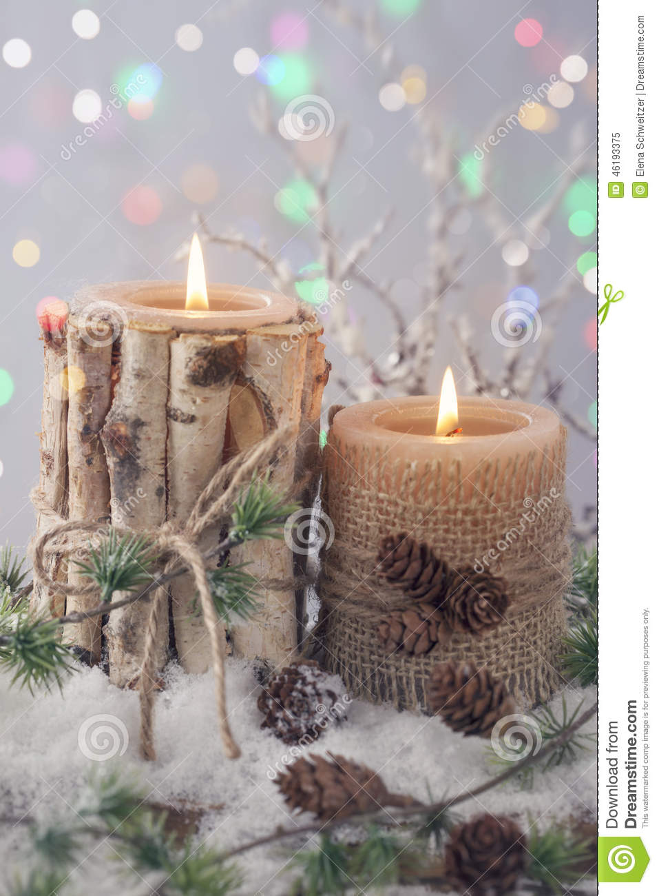 wedding ideas for a winter wedding winter candles stock image image of country 28110