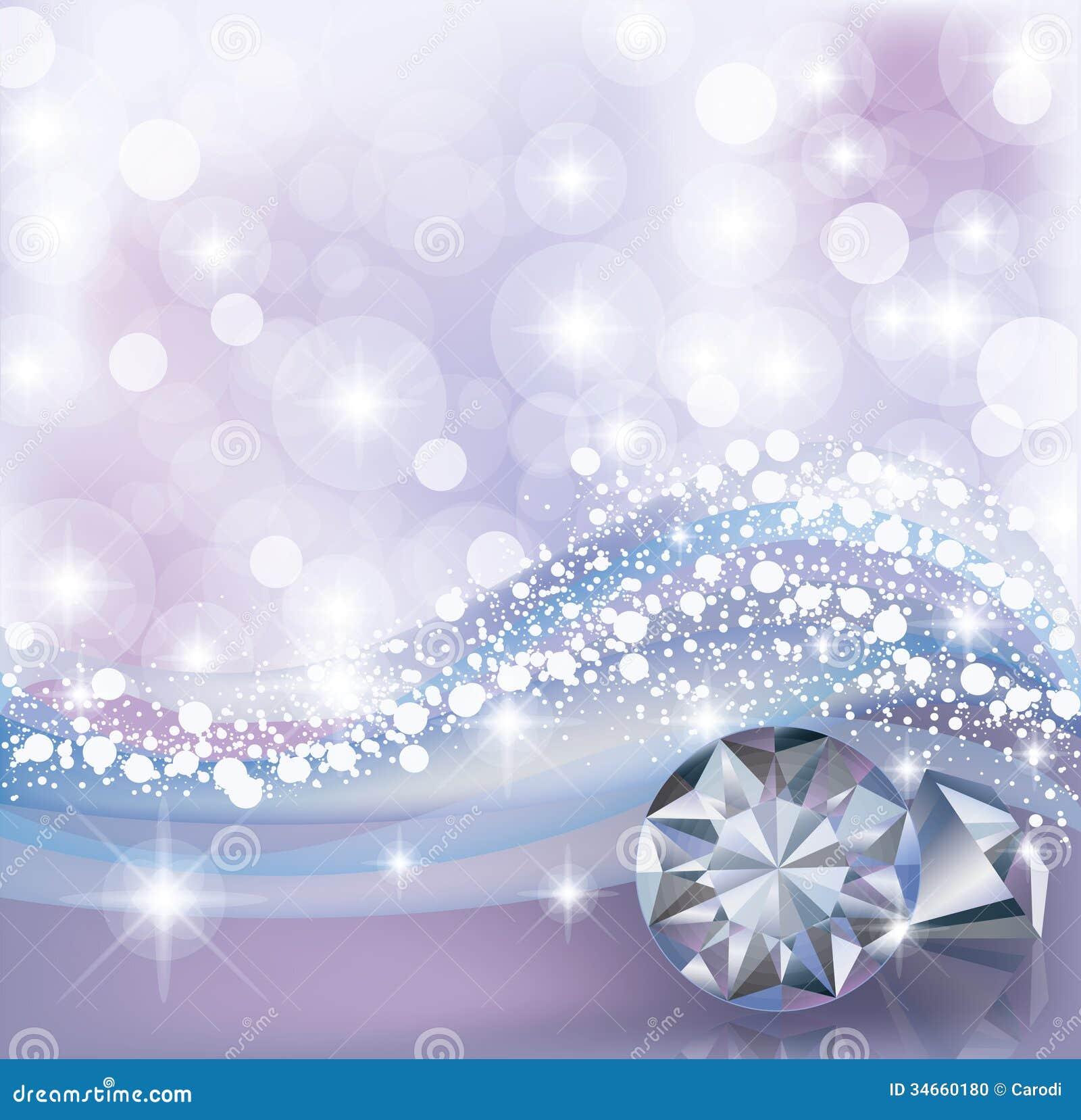 Winter Card With Diamonds Stock Photo - Image: 34660180