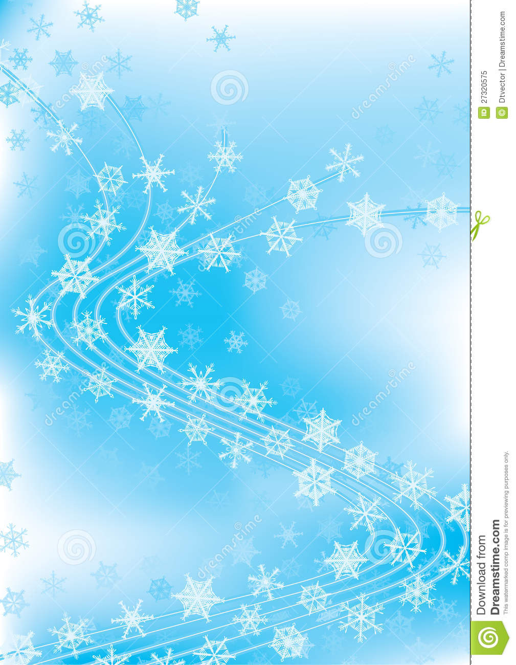 Winter Celebration Dancing Snowflakes Eps Royalty Free