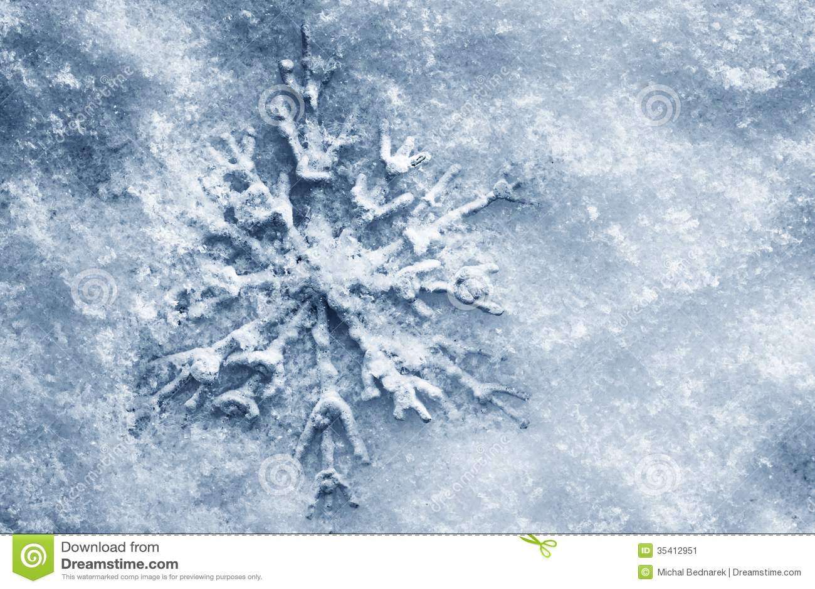 Winter, Christmas Background. Snowflake On Snow Stock Image ...