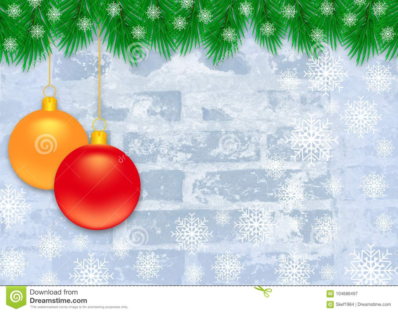 download christmas winter background with christmas decoration stock illustration illustration of color decorative - Frosty Blue Christmas Decorations