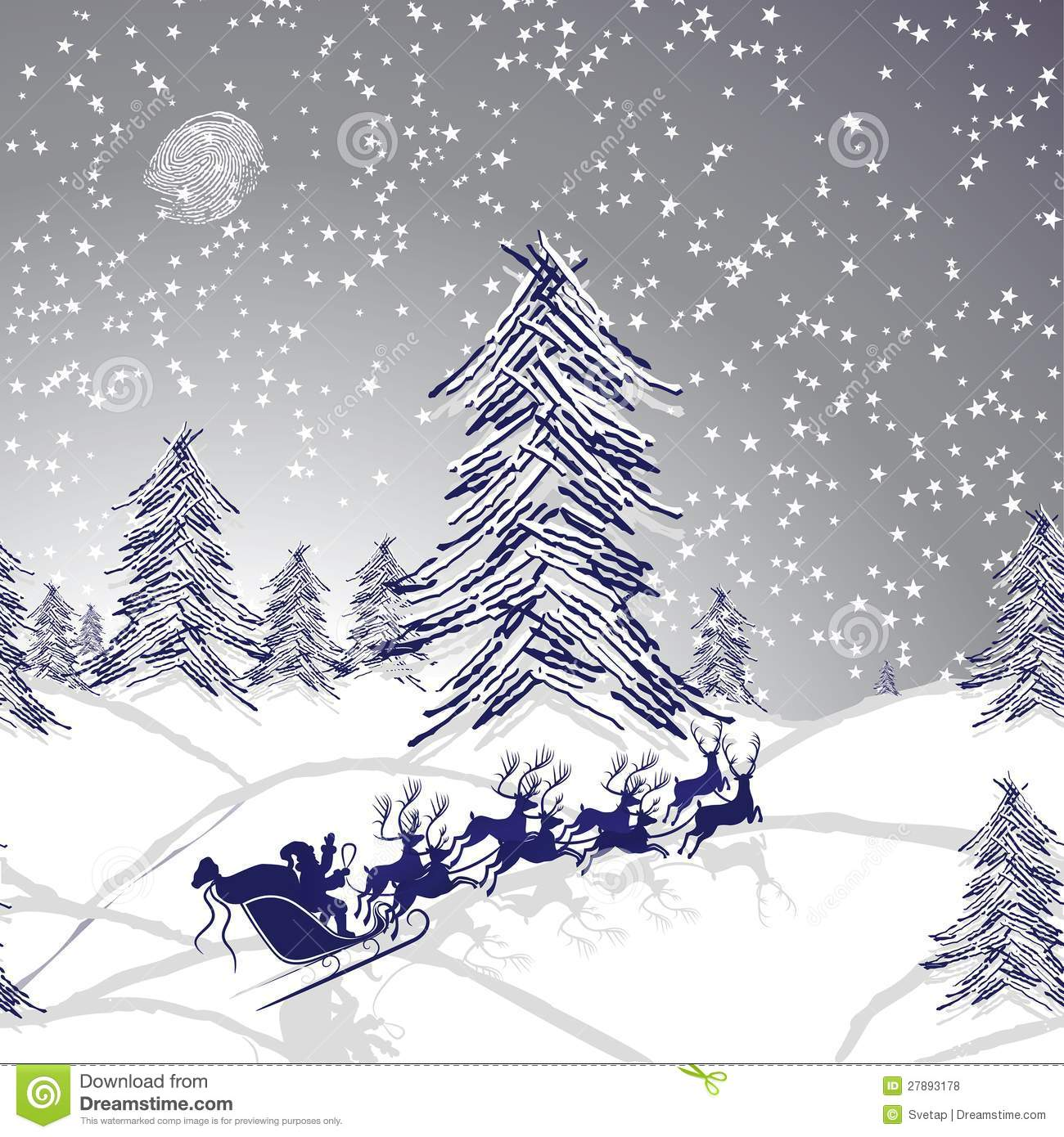 Winter christmas landscape royalty free stock photos for Christmas landscape images