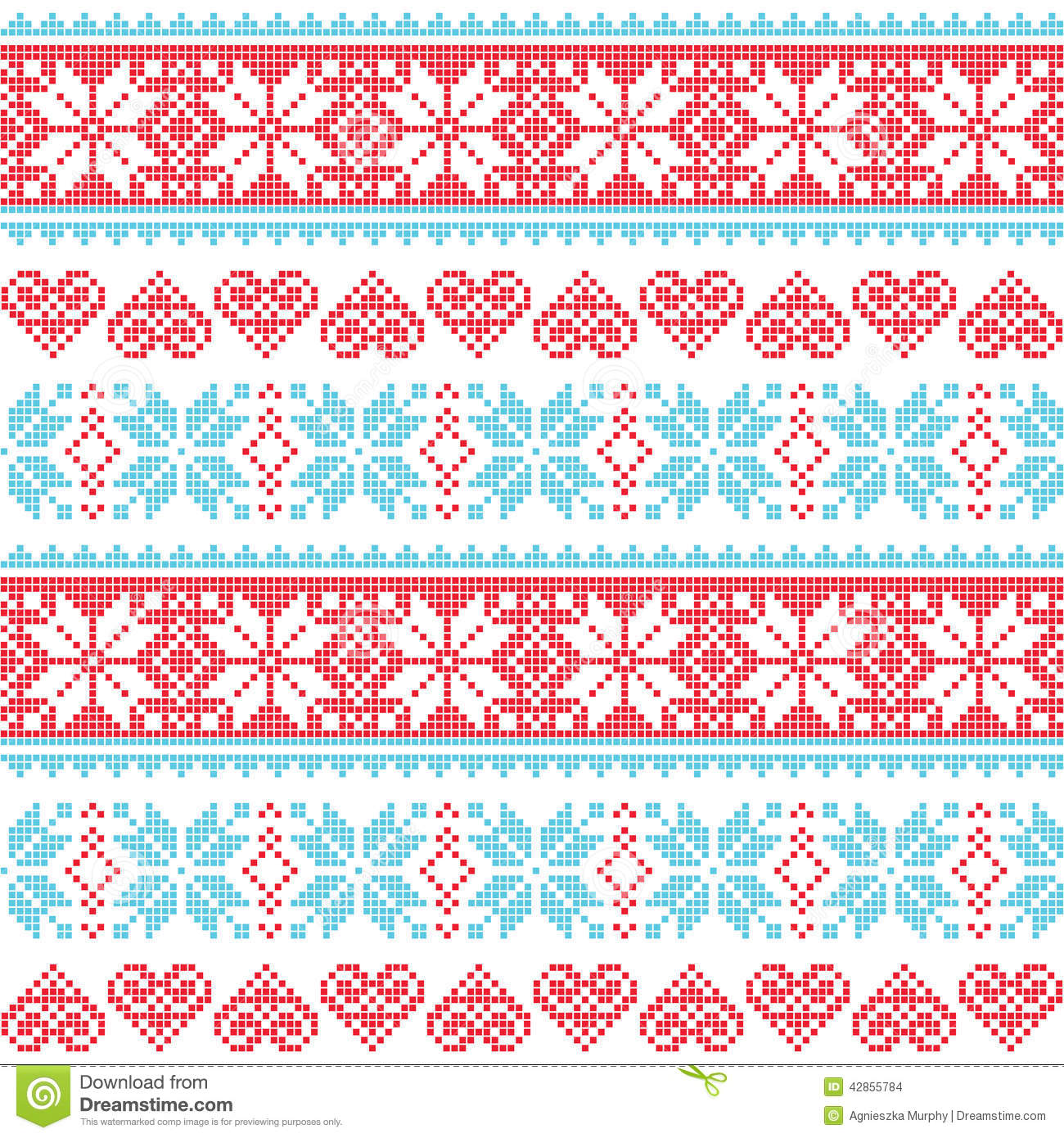 With white christmas background and snow vector vector background - Winter Christmas Seamless Pixelated Pattern With