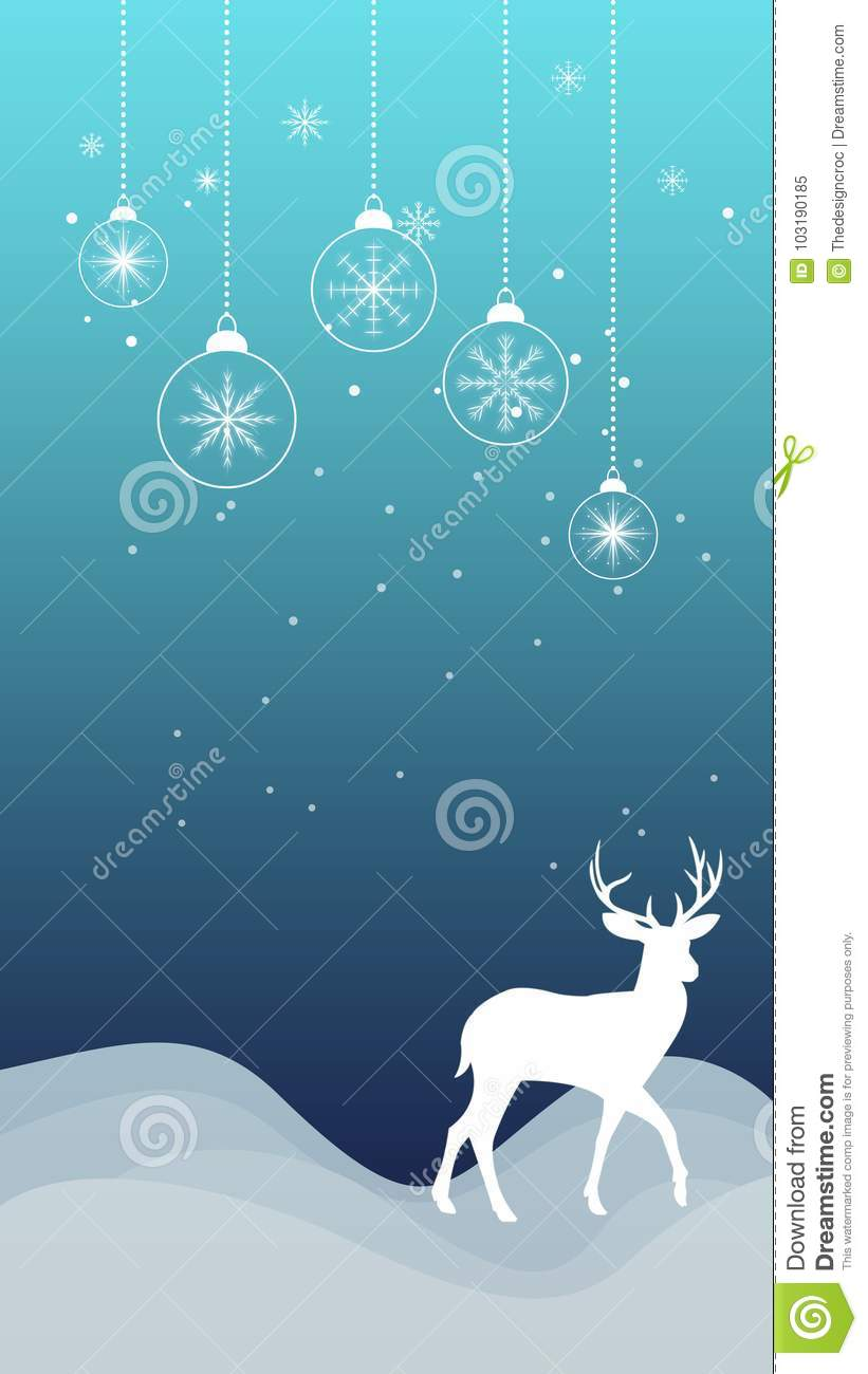 winter christmas snowflakes reindeer ornament snowfall wallpaper ornaments snow silhouette outline ideal mobile icy 103190185
