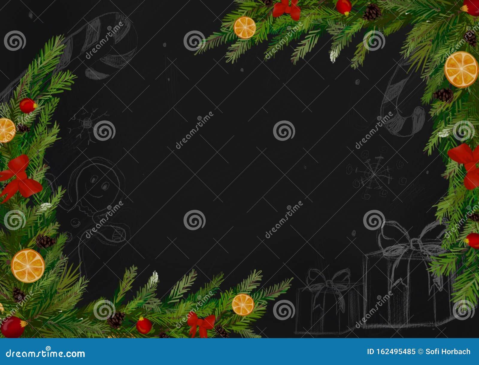 winter christmas wallpaper background design christmas tree orange winter christmas wallpaper background design 162495485