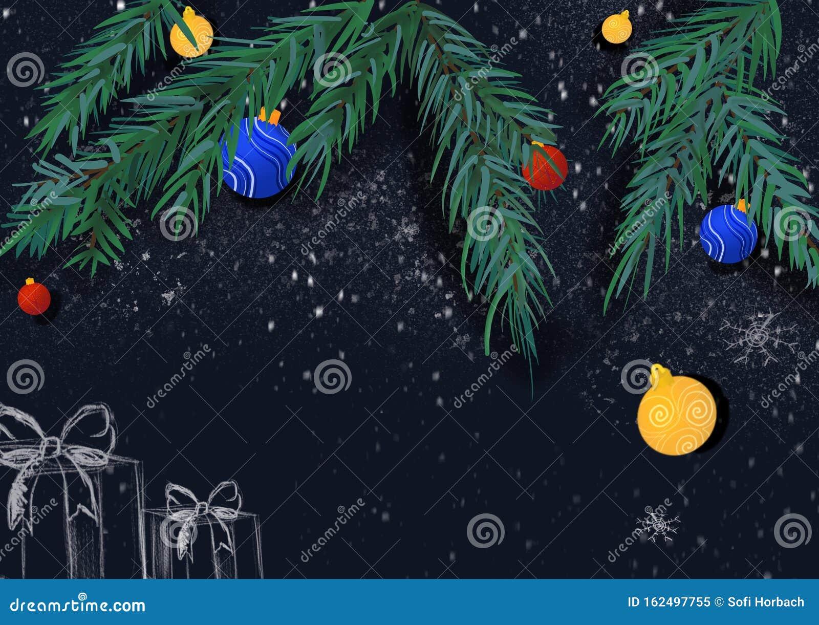 winter christmas wallpaper background design christmas tree orange winter christmas wallpaper background design 162497755