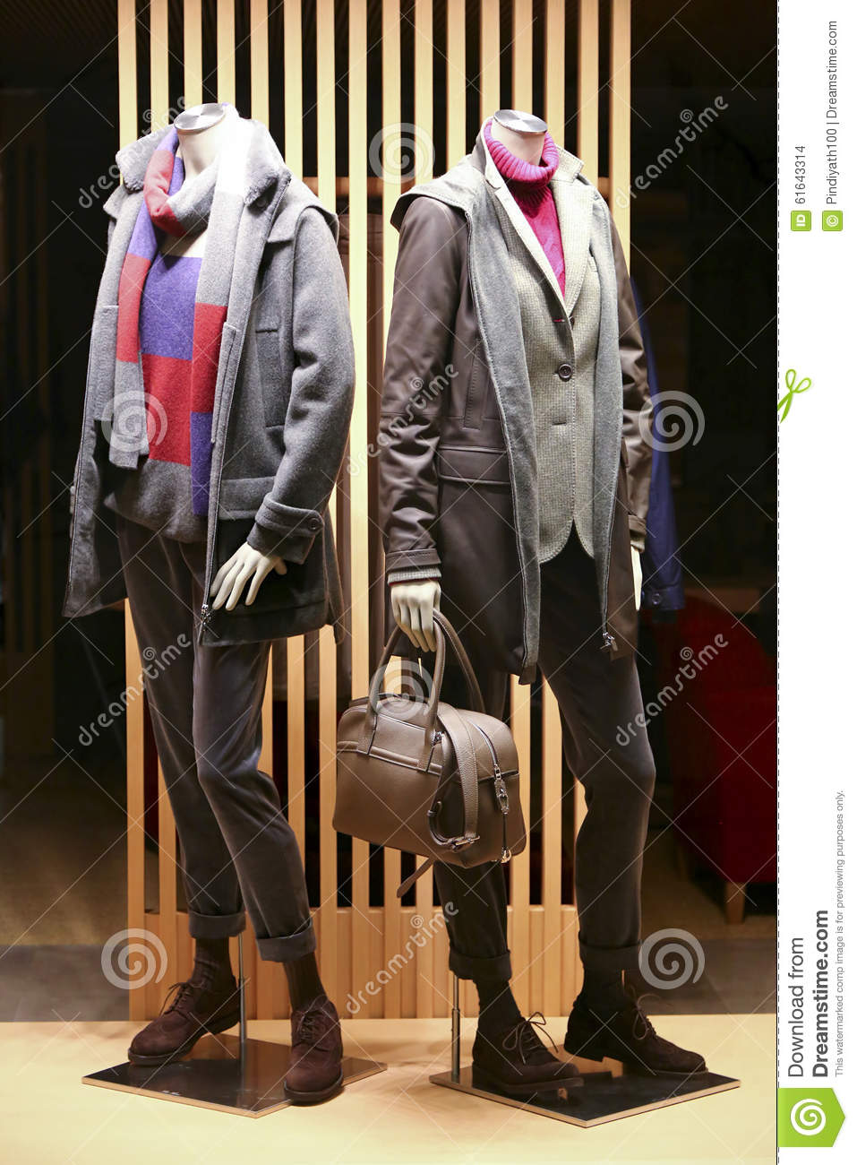 Winter Clothes And Accessories For Men And Women Stock Photo