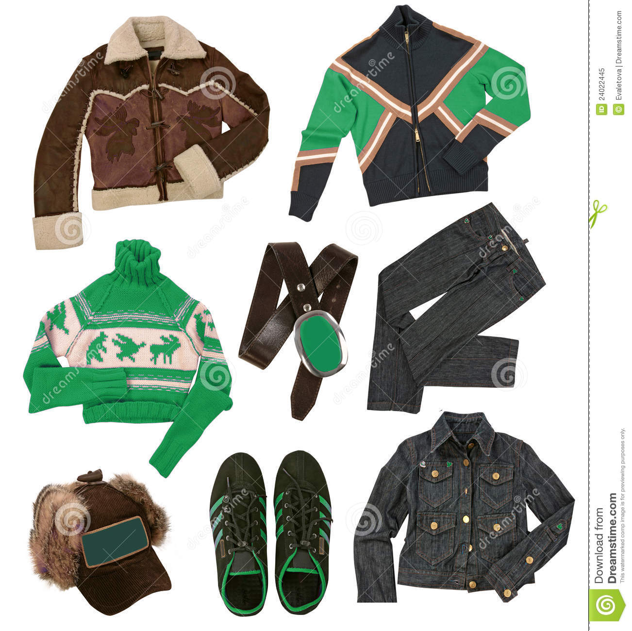 Winter clothes collection stock image. Image of woolen ...