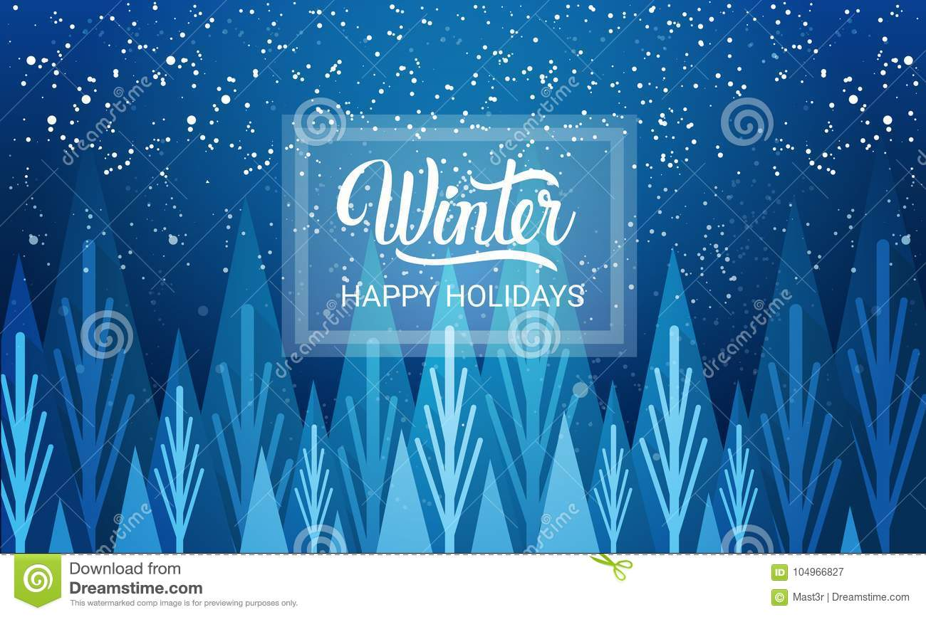 Winter Is Coming Happy Holidays Greeting Card Background Snowfalls