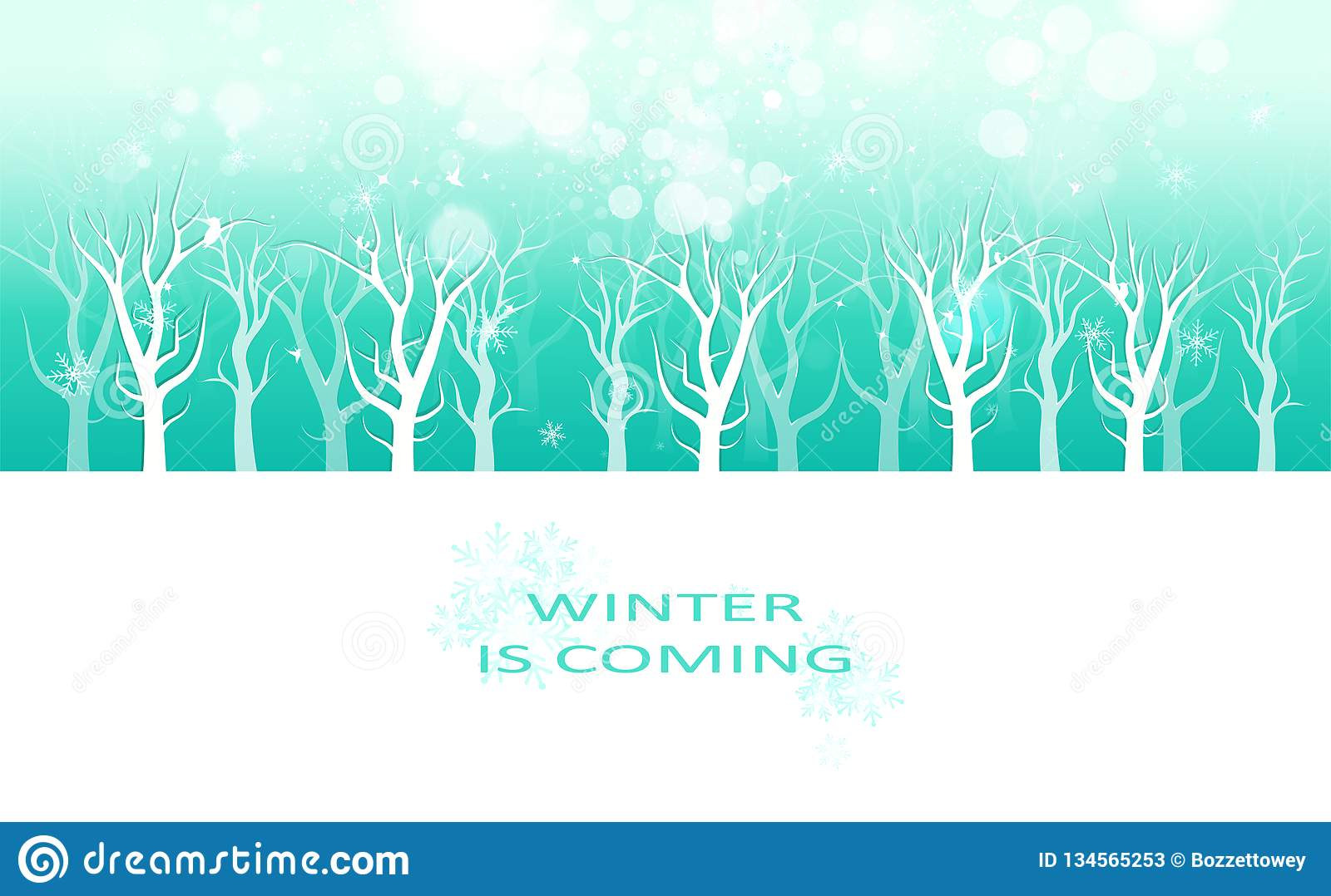 Winter Is Coming Message Creative Poster Invitation Card