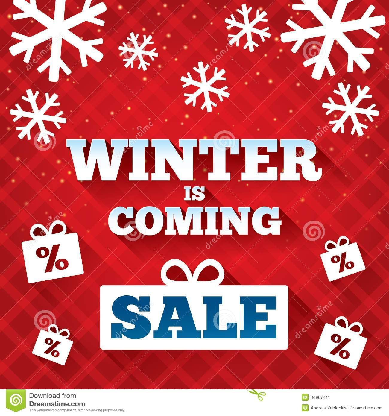 winter is coming sale background christmas sale stock vector